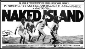 poster from the movie, Naked Island, 1984