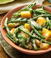 image of stringbeans and squash cooked in coco milk