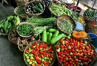 image of different vegetables in the flea market
