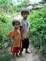 Image of two boys in rural Philippines