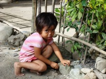 Image of a young girl in rural Philippines